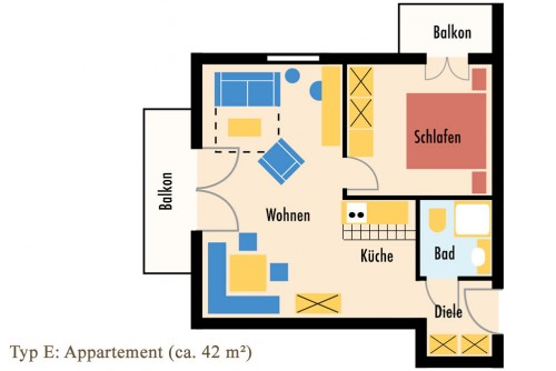 Skizze Typ E: Appartement